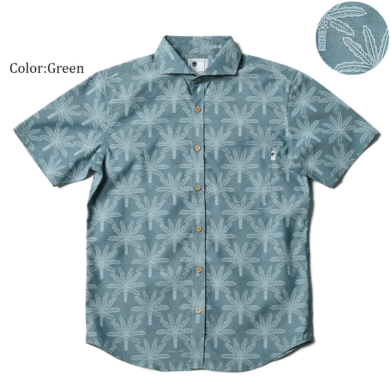アロハシャツ かりゆしウェア メンズ(男性用)「Phoenix」全2色 人気アロハがリニューアル! 半袖  大きいサイズありリゾートウエディング 沖縄結婚式にアロハシャツ【メール便利用で送料無料】