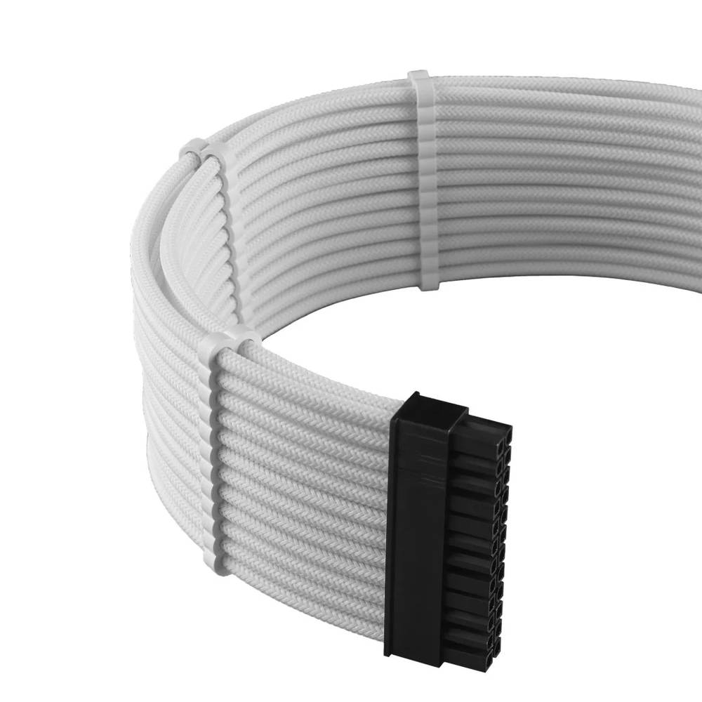 CableMod C-Series PRO ModMesh Cable Kit for Corsair RMi / RMx / RM (Black Label) - WHITE (CM-PCSR-FKIT-NKW-R)