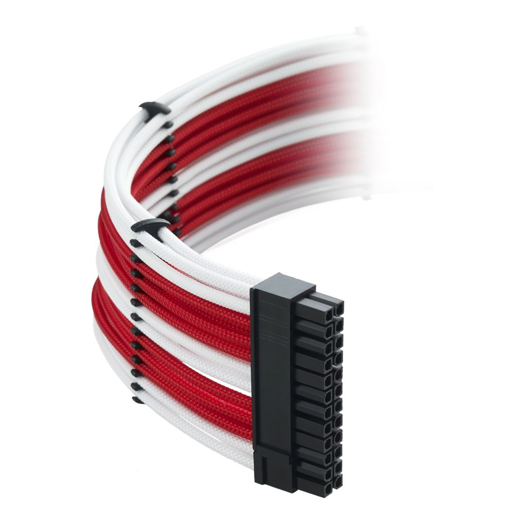 CableMod Classic ModMesh C-Series Cable Kit for Corsair AXi, HXi & RM - WHITE / RED (CM-CSI-CKIT-NKWR-R)