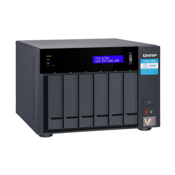 QNAP TVS-672N-i3-4G 5GbE 2.5/3.5インチ 6台搭載可能 【受発注】