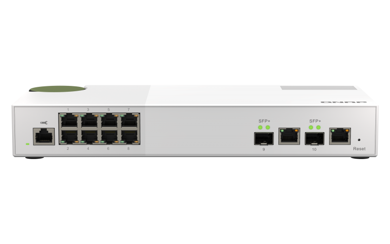 QNAP QSW-M2108-2C 2.5G 8ポート 10GbE 2ポート マネージドスイッチ