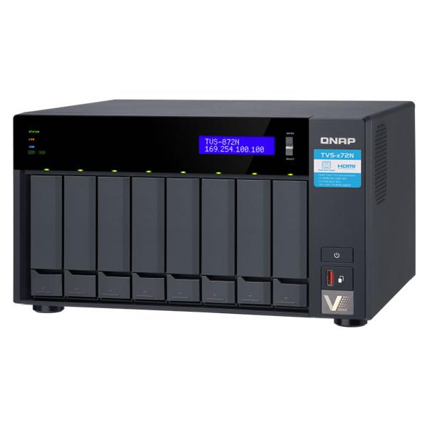 QNAP TVS-872N-i3-8G 5GbE 2.5/3.5インチ 8台搭載可能