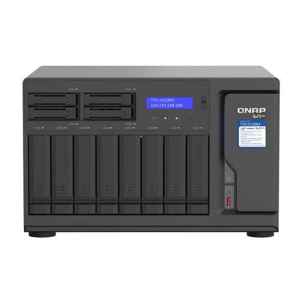 QNAP TVS-h1288X-W1250-16G 10GbE 2.5インチ 4 台 3.5インチ 8台搭載可能