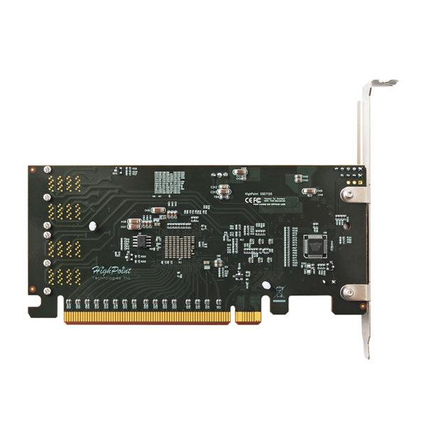 HighPoint SSD7120 NVMe U.2 SSD RAID コントローラー