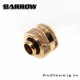 "Barrow G1/4"" 16mm Rigid Tube Joint Fitting Connector Gold"