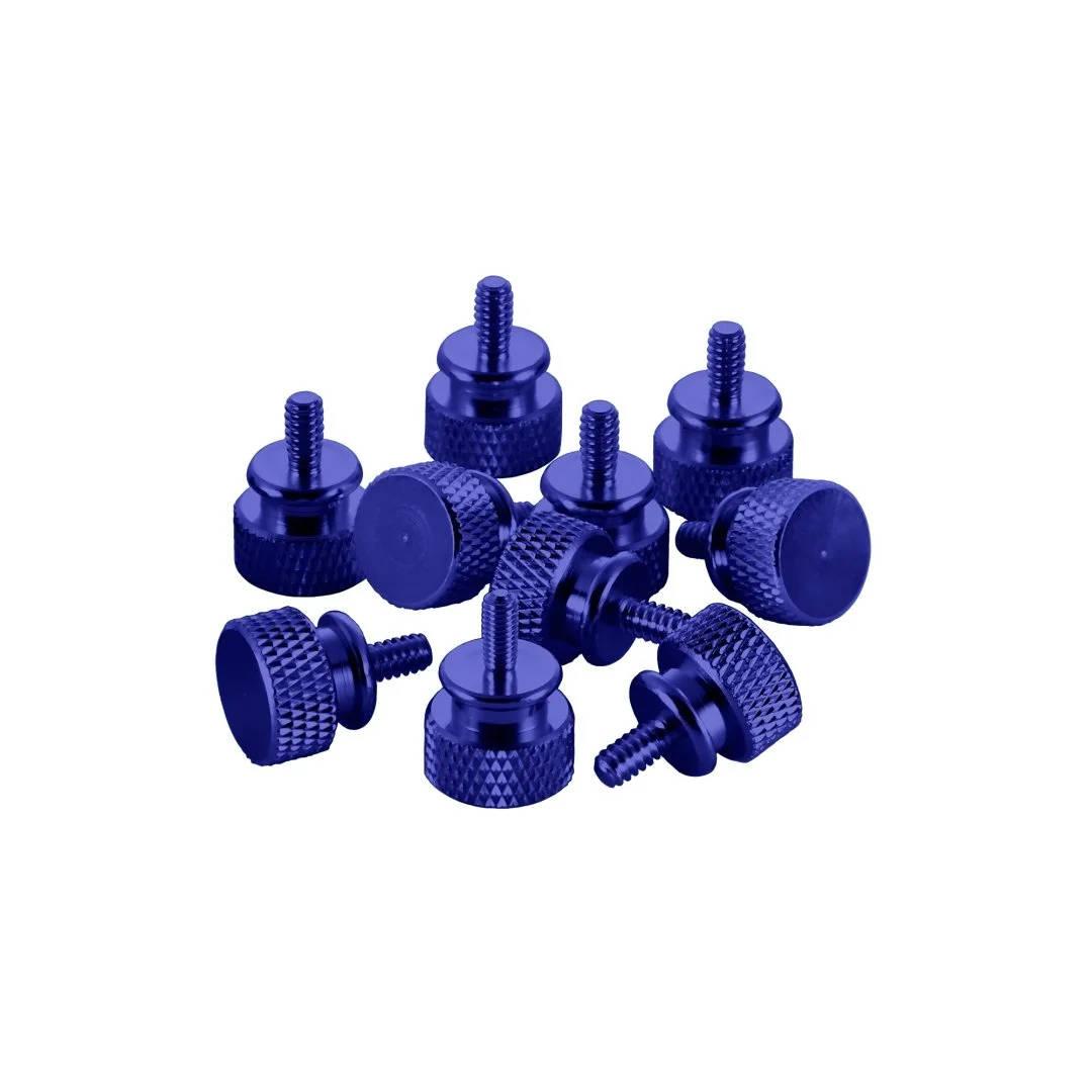 CableMod Anodized Aluminum Thumbscrews - UNC 6-32 - BLUE (CM-ATS-C632-10-B-R)