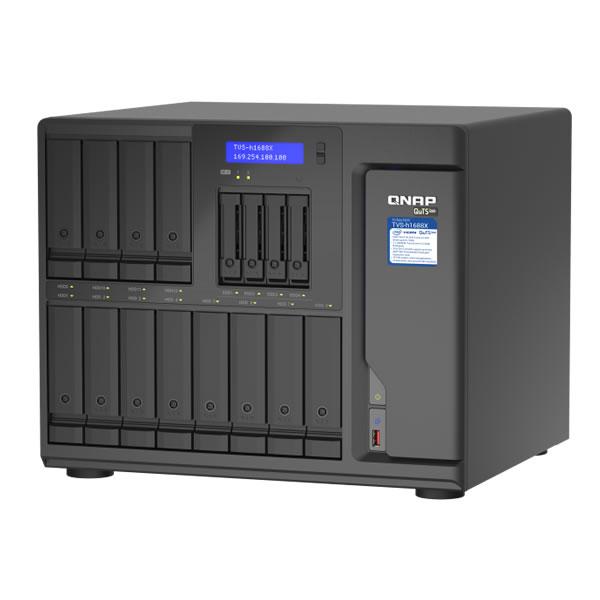 QNAP TVS-h1688X-W1250-32G 10GbE 2.5インチ 4 台 3.5インチ 12台搭載可能