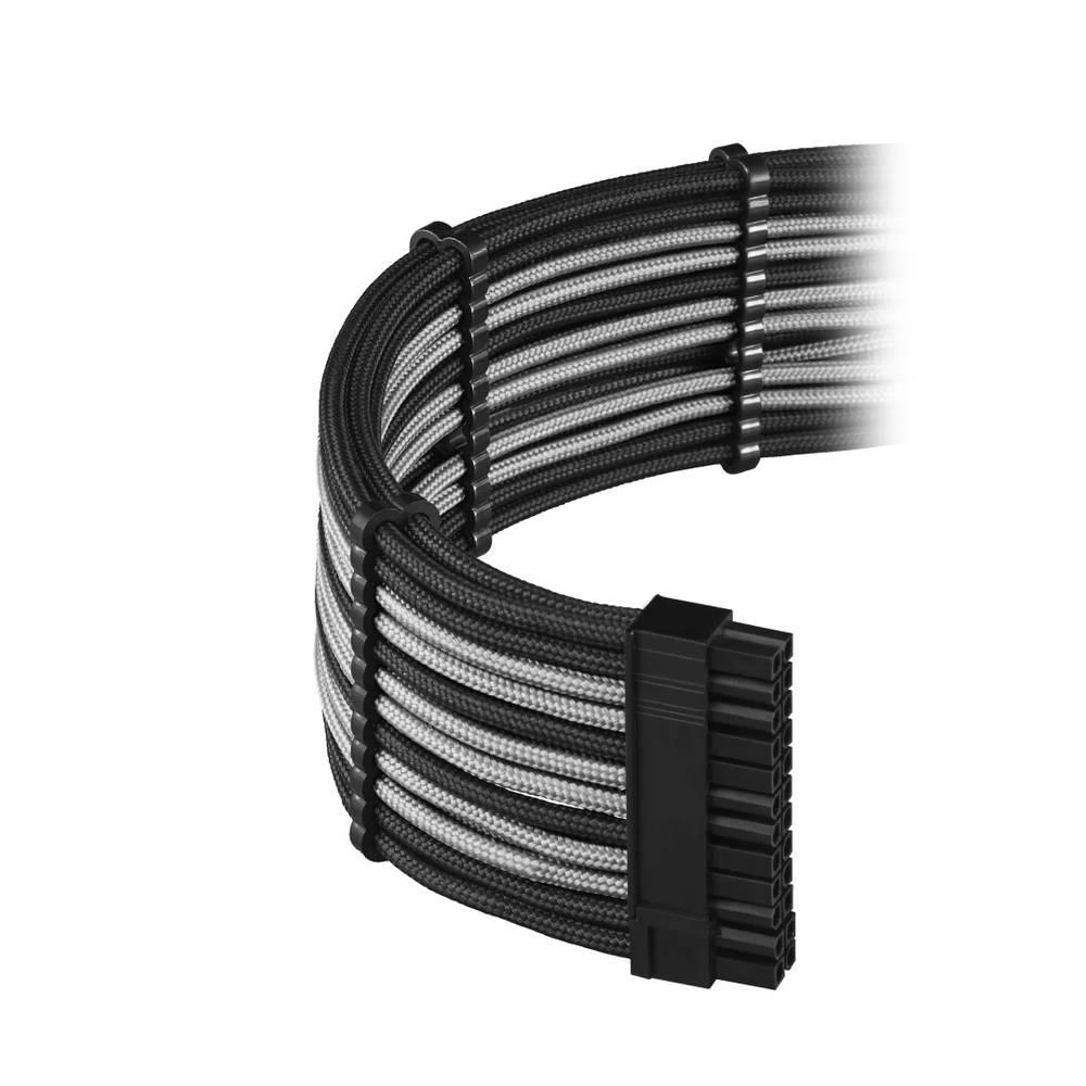 CableMod E-Series PRO ModFlex Cable Kit for EVGA G5 / G3 / G2 / P2 / T2 - BLACK / SILVER (CM-PEV2-FKIT-KKS-R)
