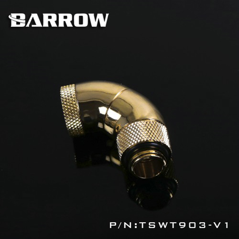 Barrow 90-Degree Snake 3-way Rotary Adapter Gold