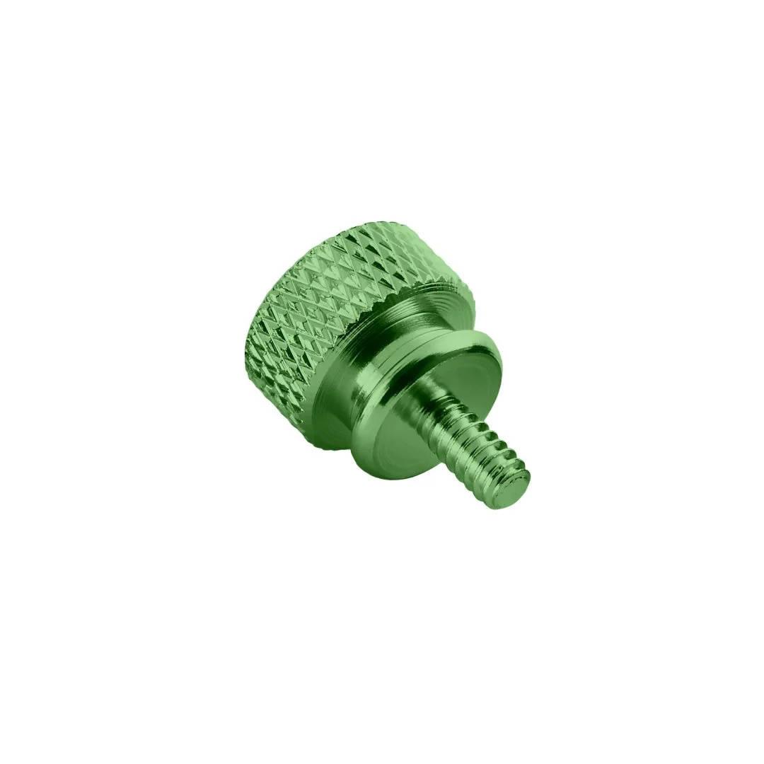 CableMod Anodized Aluminum Thumbscrews - UNC 6-32 - GREEN (CM-ATS-C632-10-G-R)