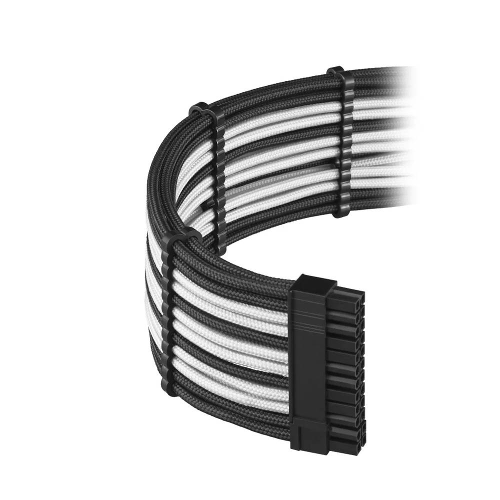 CableMod RT-Series PRO ModFlex Cable Kit for ASUS and Seasonic - BLACK / WHITE (CM-PRTS-FKIT-KKW-R)