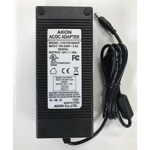 AKON 「LYD1201000UF」 120W ファンレスACアダプター 12V/10A