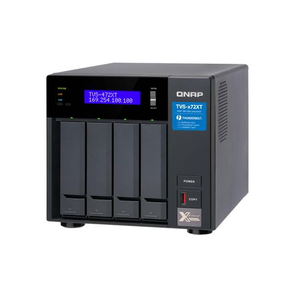 QNAP TVS-472XT-PT-4G Thunderbolt 3 10GbE 2.5/3.5インチ 4台搭載可能