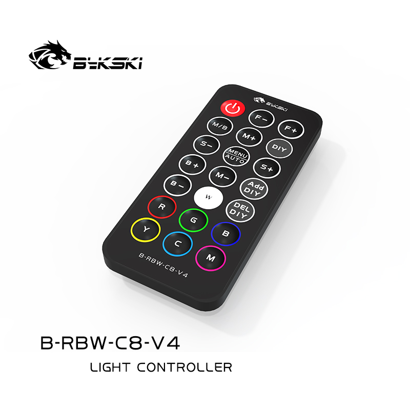 Bykski 8+4 5V Addressable RGB (RBW) Light Controller Module Kit (B-RBW-C8-V4)