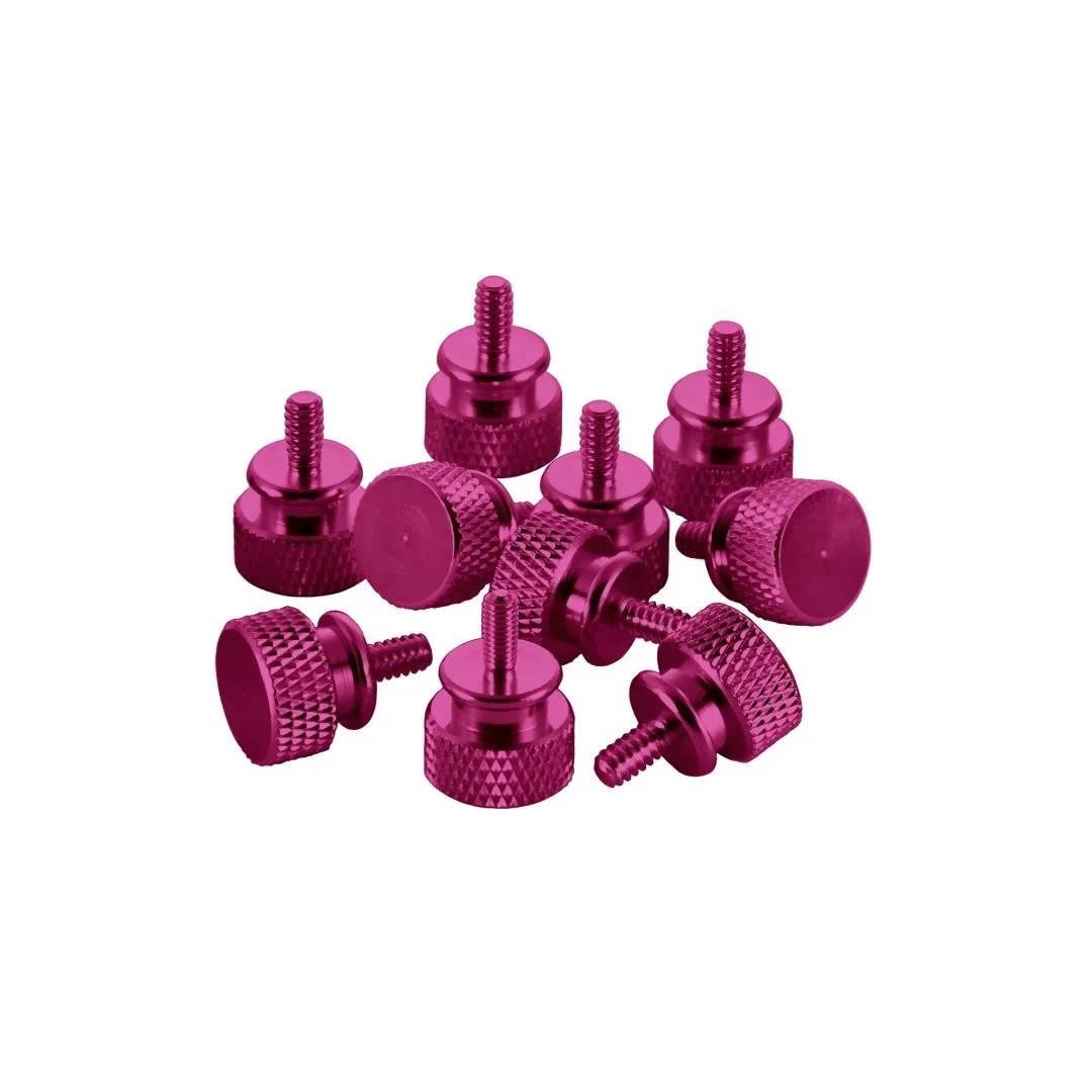 CableMod Anodized Aluminum Thumbscrews - UNC 6-32 - PINK (CM-ATS-C632-10-I-R)
