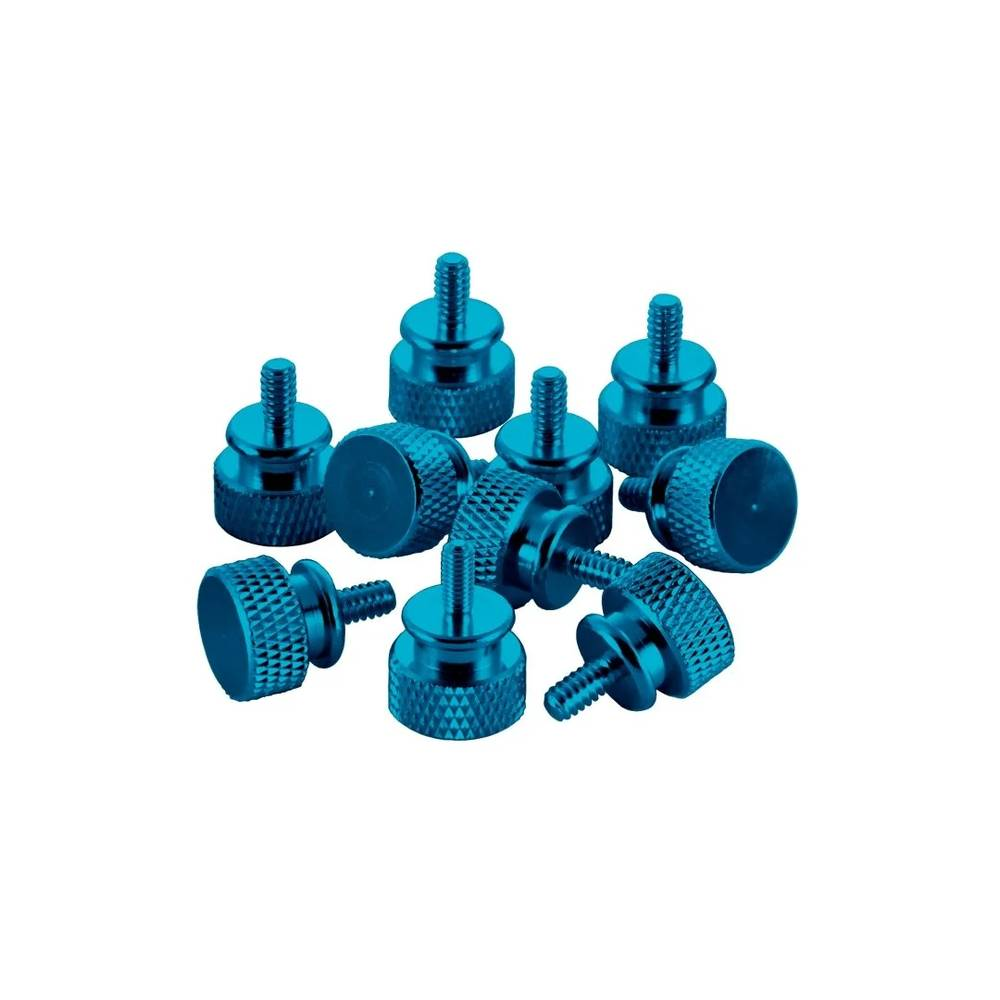 CableMod Anodized Aluminum Thumbscrews - UNC 6-32 - LIGHT BLUE (CM-ATS-C632-10-LB-R)