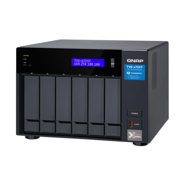 QNAP TVS-672XT-i3-8G Thunderbolt 3 10GbE 2.5/3.5インチ 6台搭載可能 【受発注】