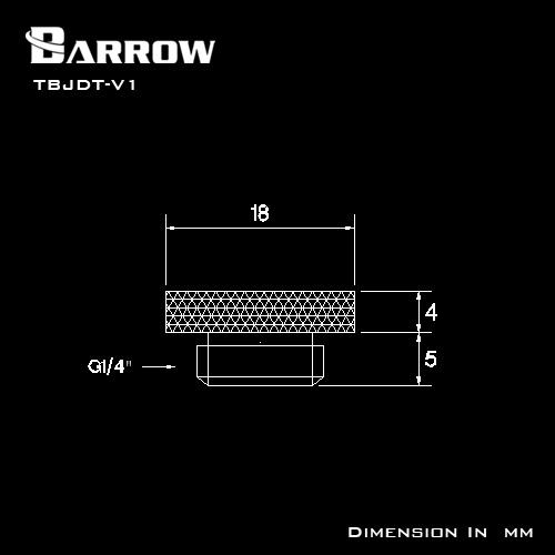 BARROW Mirror Finish Stop Plug Fitting Golden