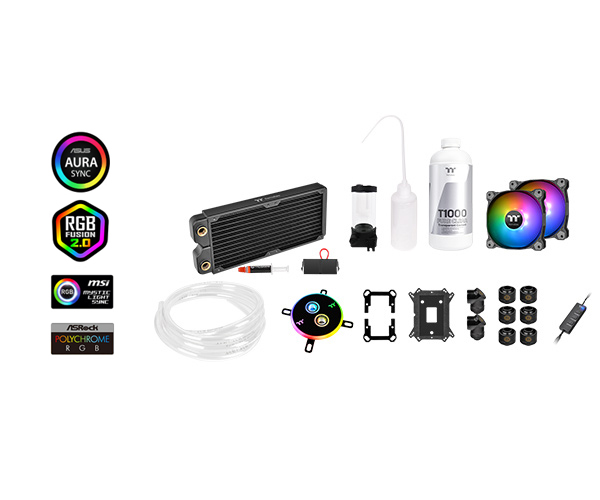 Thermaltake Pacific C240 DDC Soft Tube Water Cooling Kit (CL-W249-CU12SW-A)