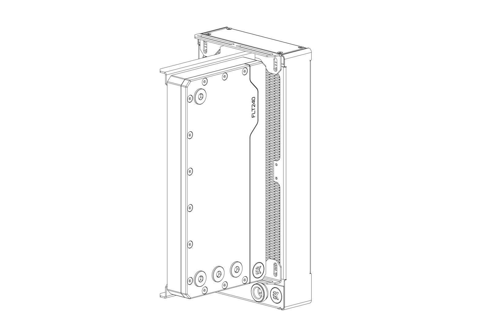 EK WaterBlocks EK-Loop Angled Bracket - 120mm