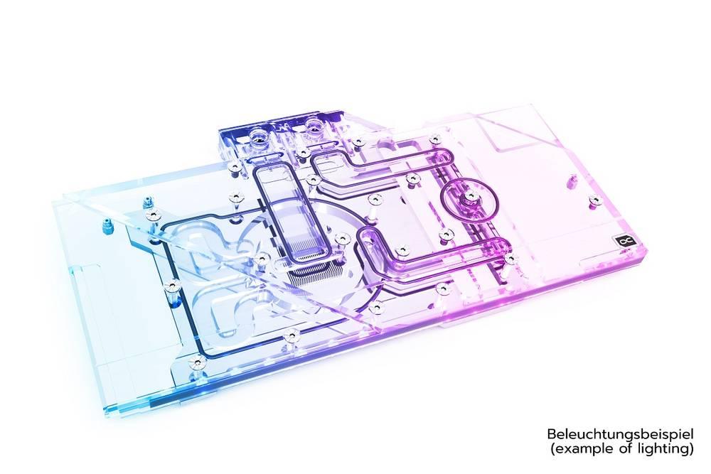 Alphacool Eisblock Aurora Acryl GPX-A Radeon RX 6800/6800XT Gaming X Trio with Backplate