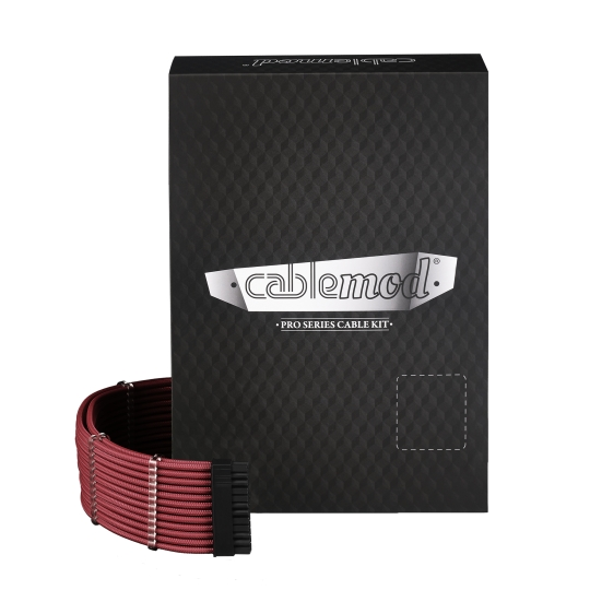 CableMod PRO ModMesh C-Series AXi, HXi & RM Cable Kit - BLOOD RED (CM-PCSI-FKIT-NKBR-R)
