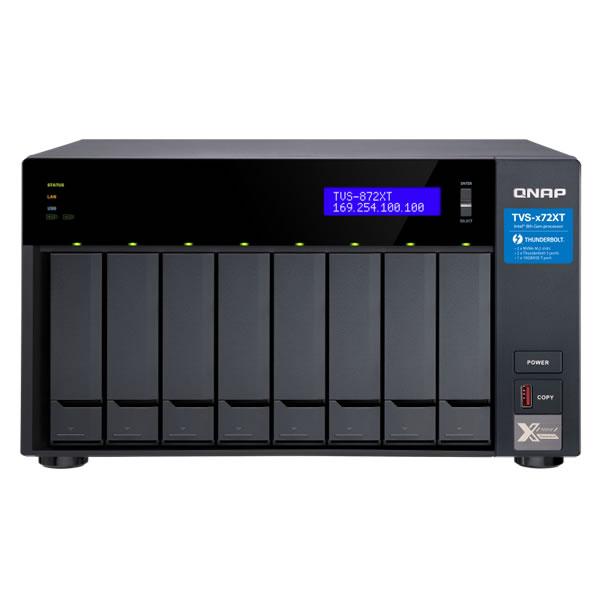QNAP TVS-872XT-i5-16G Thunderbolt 3 10GbE 2.5/3.5インチ 8台搭載可能