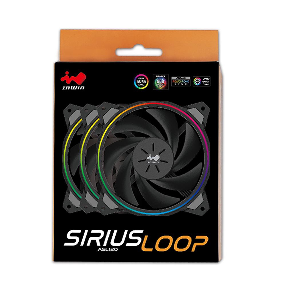 IN WIN Sirius Loop ASL120 3個パック (ASL120FAN-3PK)