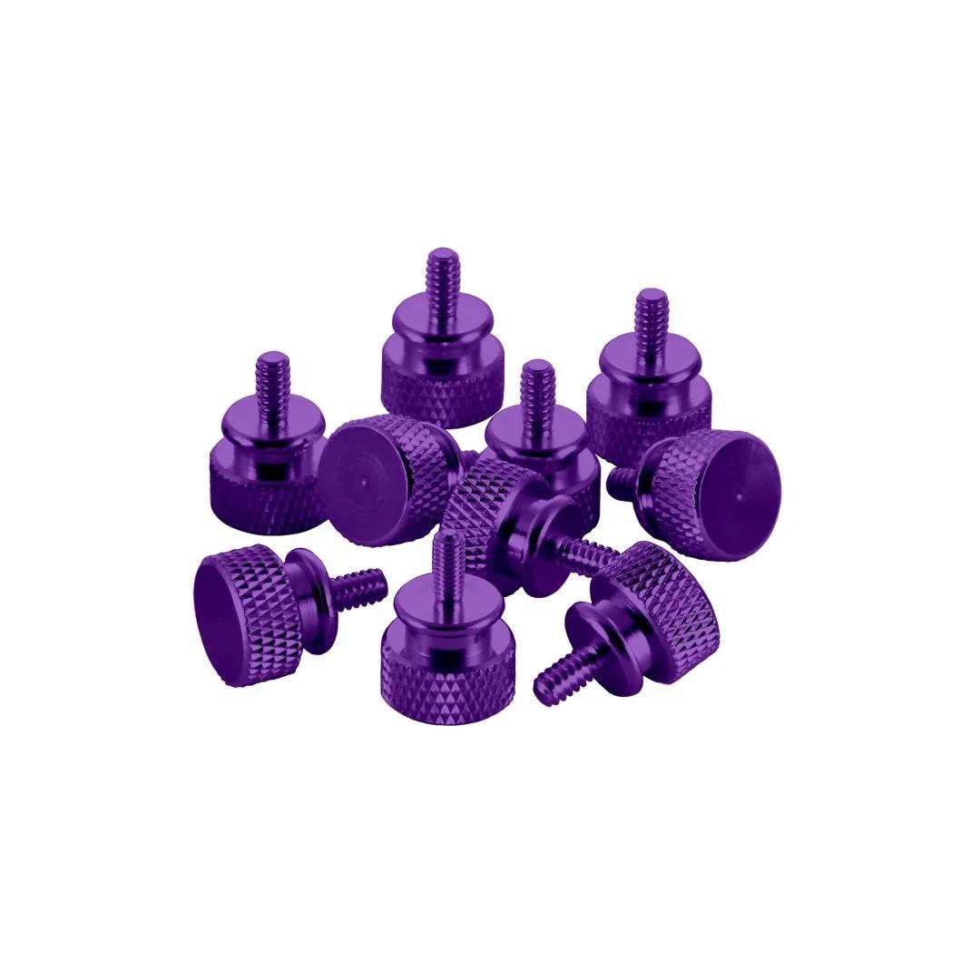 CableMod Anodized Aluminum Thumbscrews - UNC 6-32 - PURPLE (CM-ATS-C632-10-P-R)