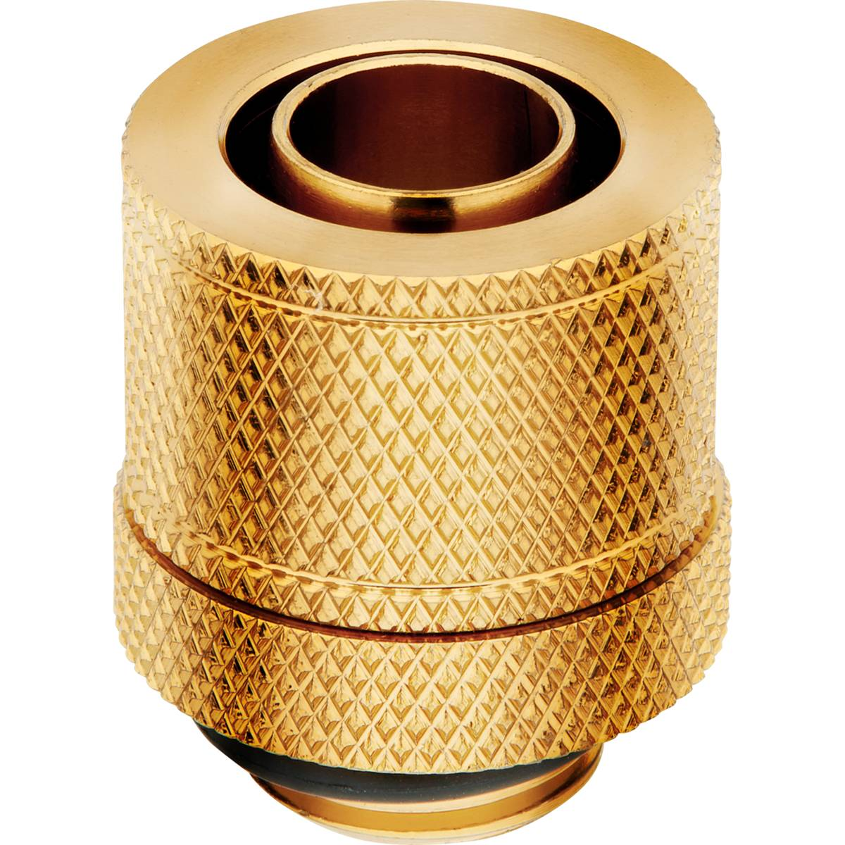 """CORSAIR Hydro X Series XF Compression 10/13mm (3/8"""" / 1/2"""") ID/OD Fitting Four Pack - Gold"""