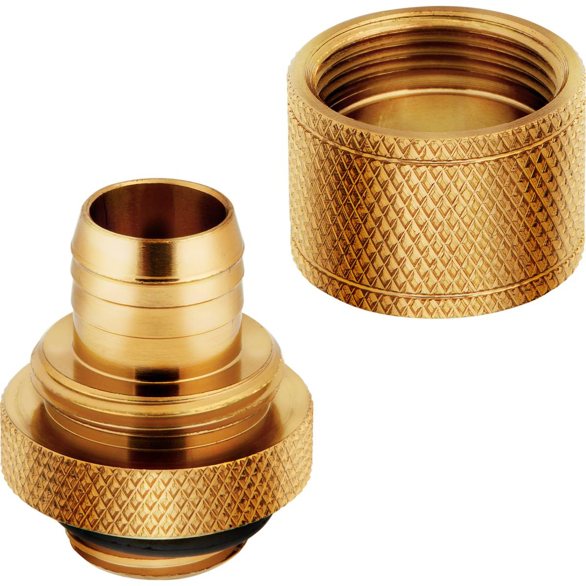 "CORSAIR Hydro X Series XF Compression 10/13mm (3/8"" / 1/2"") ID/OD Fitting Four Pack - Gold"