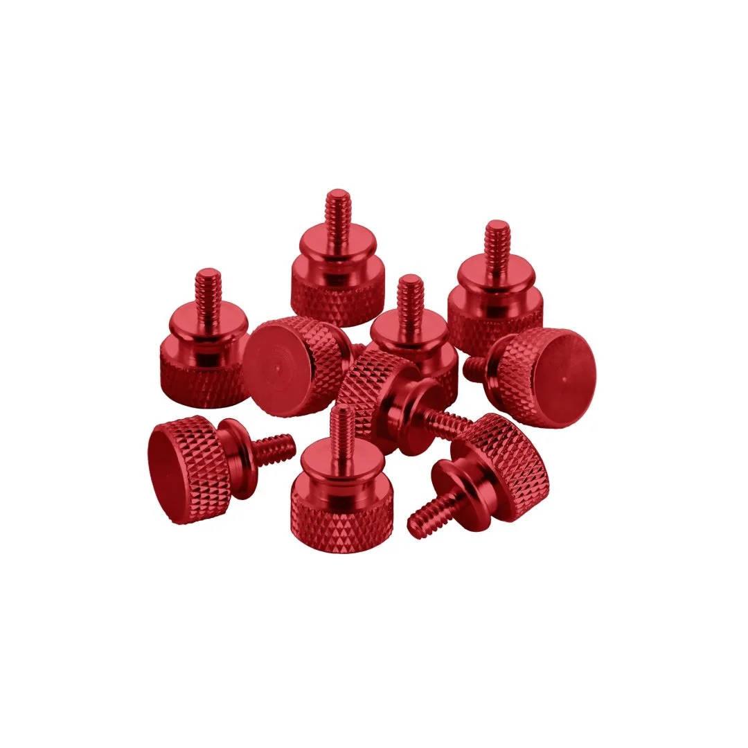 CableMod Anodized Aluminum Thumbscrews - UNC 6-32 - RED (CM-ATS-C632-10-R-R)