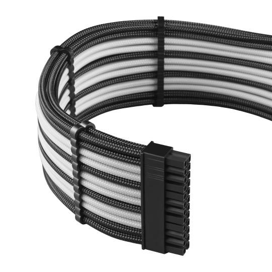 CableMod PRO ModMesh C-Series AXi, HXi & RM Cable Kit - BLACK / WHITE (CM-PCSI-FKIT-NKKW-R