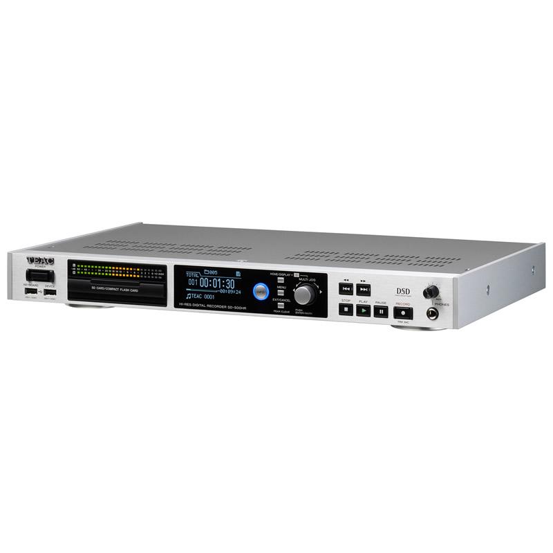 TEAC SD-500HR-S DSD 5.6MHz、PCM 192kHz/24bit対応ハイレゾ・マスターレコーダー