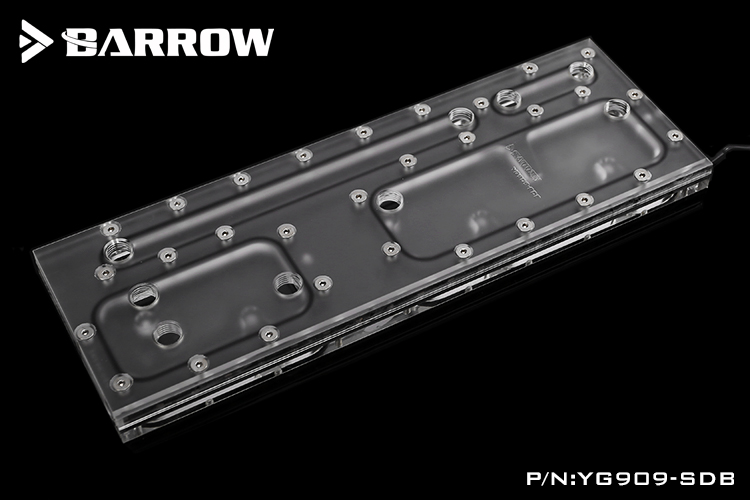 BARROW Aurora waterway plate for IN WIN 909 case