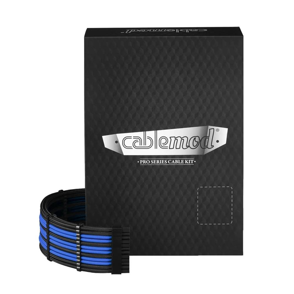 CableMod RT-Series PRO ModMesh Cable Kit for ASUS and Seasonic - BLACK / BLUE (CM-PRTS-FKIT-NKKB-R)
