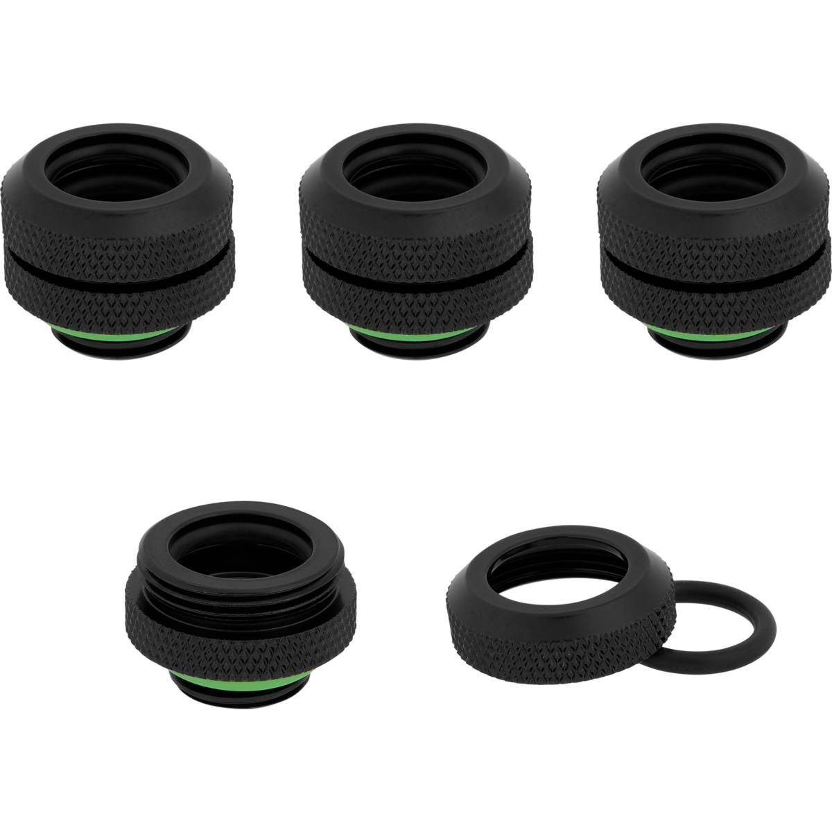 CORSAIR Hydro X Series XF Hardline 12mm OD Fitting Four Pack - Black
