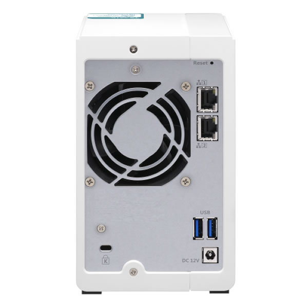 QNAP TS-231K 2.5/3.5インチHDD 2台搭載可能