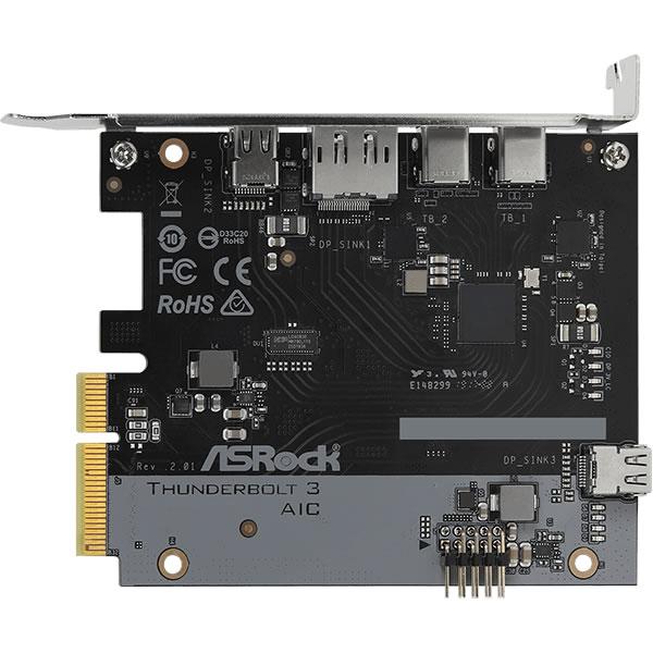 ASRock Thunderbolt 3 AIC R2.0 Thunderbolt 3 カード