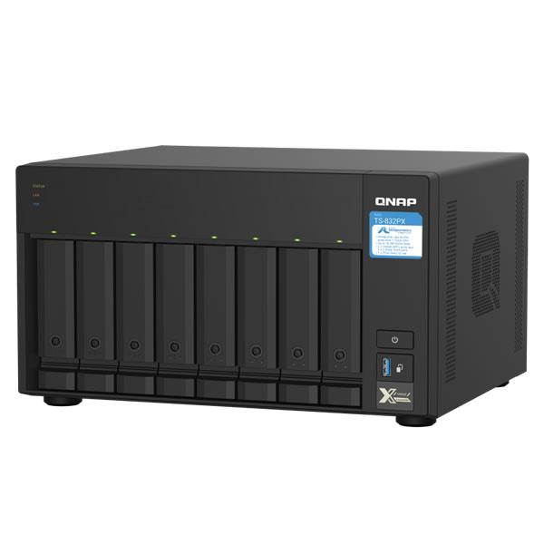 QNAP TS-832PX-4G 2.5/3.5インチ 8台 10GbE/2.5GbE
