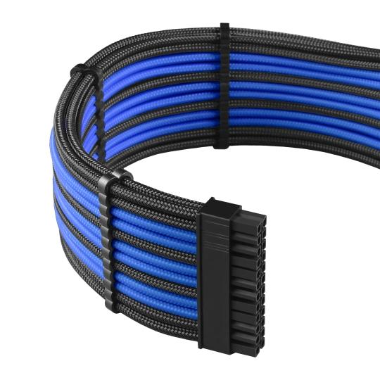 CableMod PRO ModMesh C-Series AXi, HXi & RM Cable Kit - BLACK / BLUE (CM-PCSI-FKIT-NKKB-R)