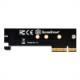 SilverStone ECM25 M.2 NVMe SSD-PCIe x4 1Uアダプタ
