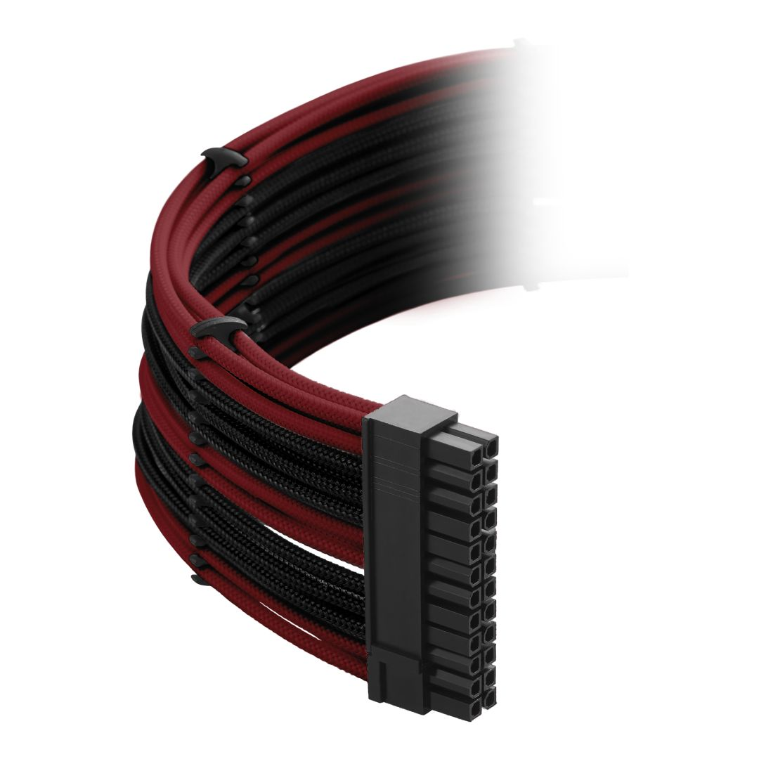 CableMod Classic ModMesh RT-Series Cable Kit for ASUS ROG Thor - BLACK / BLOOD RED (CM-RTS-CKIT-NKKBR-R)