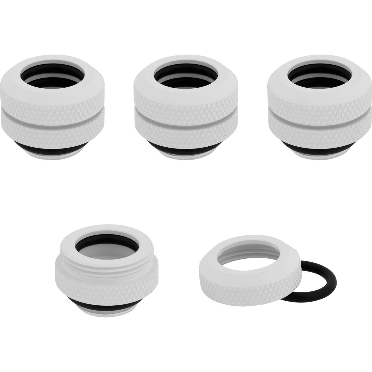 CORSAIR Hydro X Series XF Hardline 12mm OD Fitting Four Pack - White
