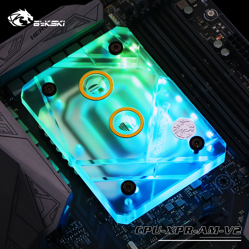 Bykski CPU-XPR-AM-V2 CPU water cooled head AMD Ryzen AM4 AM3 AMD BLOCKS