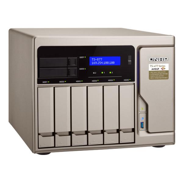 QNAP TS-877-16G 3.5インチ6台+2.5インチ2台搭載可能