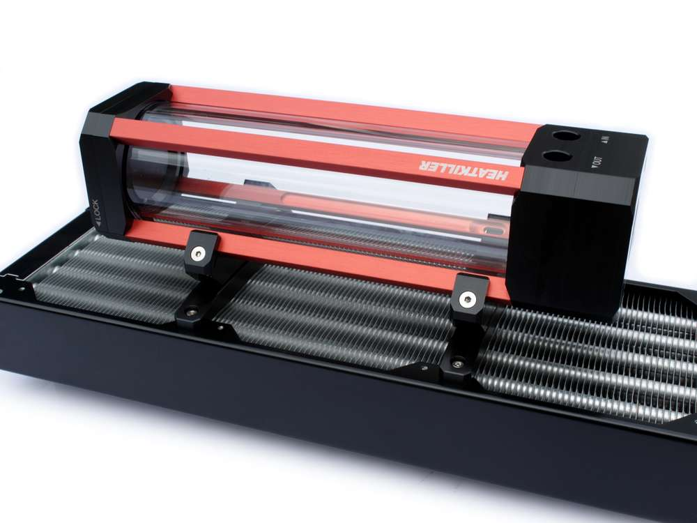 Watercool HEATKILLER Tube - 120mm fan adapter (pair)