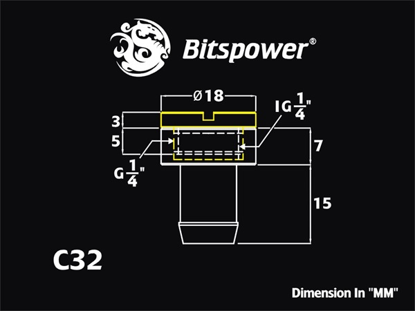 "Bitspower Silver Shining Sealing Plug For ID 3/8"" Tube"