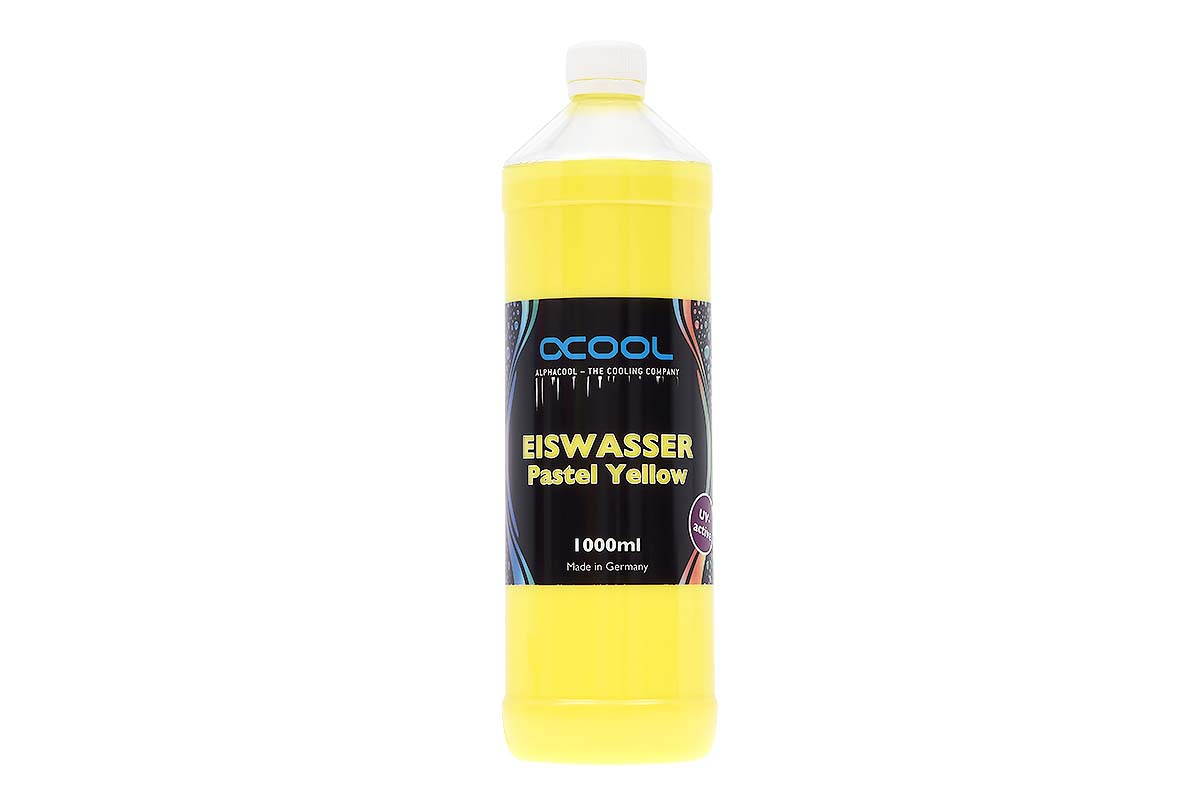 Alphacool Eiswasser Pastel Yellow UV-active premixed coolant 1000ml