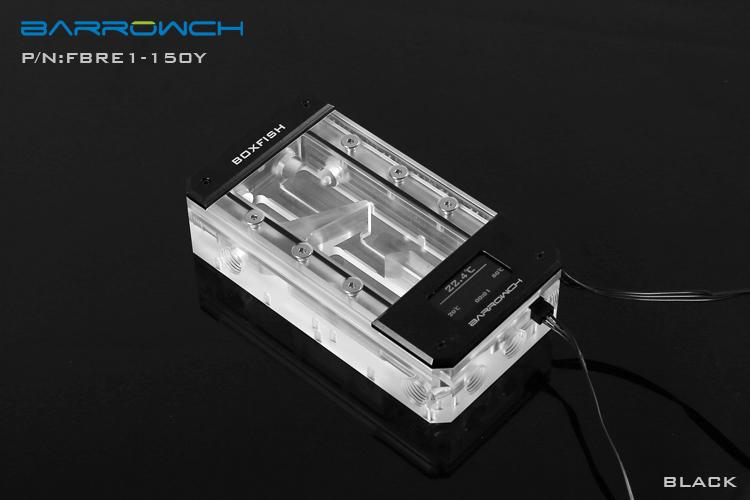 Barrowch boxfish series acrylic square wisdom digital reservoir Classic Black L150